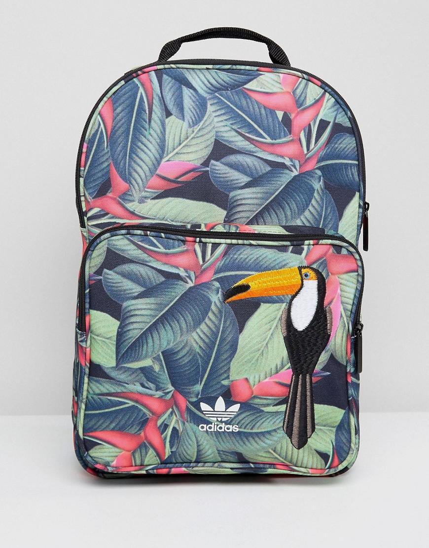 c40b06312e1 adidas Originals Originals Backpack In Tropical Print - Lyst