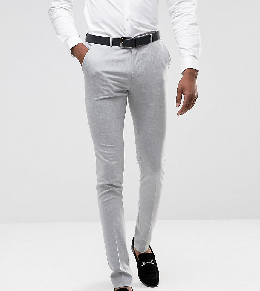 TALL Super Skinny Smart Trousers in Grey - Grey Asos Buy Cheap Extremely Clearance Popular Discount Largest Supplier jHUcT