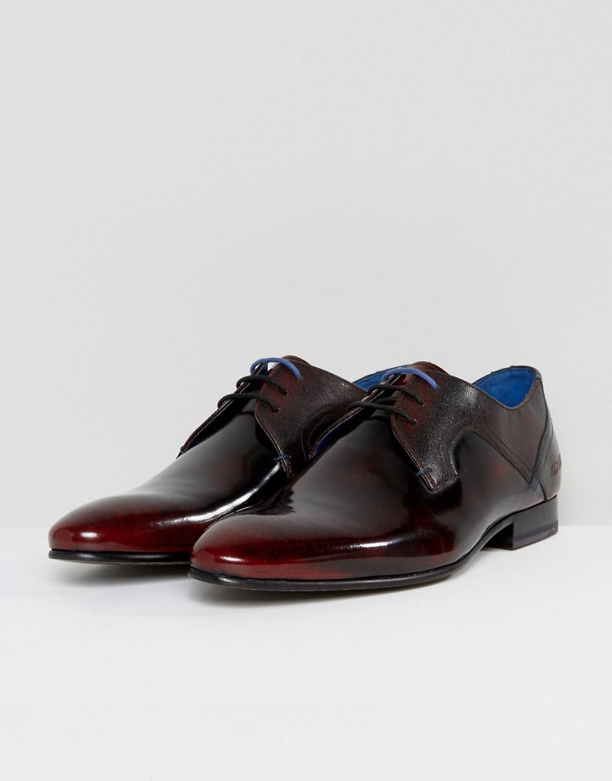 153476bf5f02b Lyst - Ted Baker Pelton Hi Shine Derby Shoes In Red in Red for Men