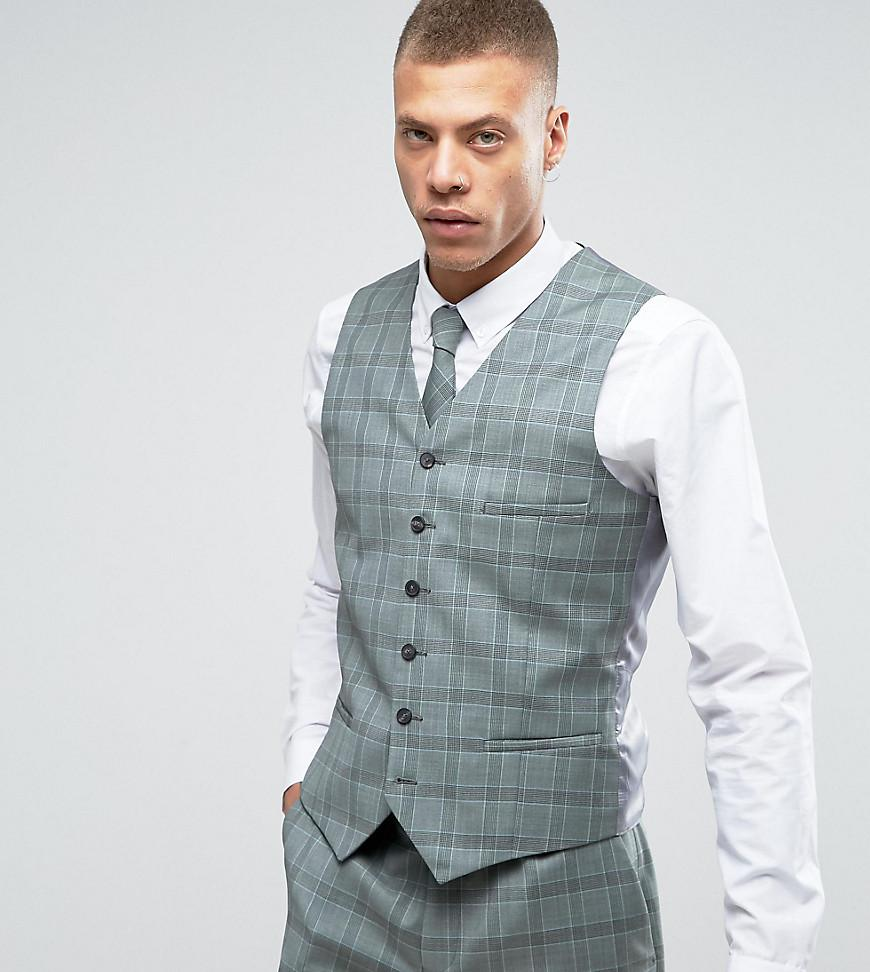 Lyst - Heart & Dagger Slim Waistcoat In Summer Wedding Check in ...