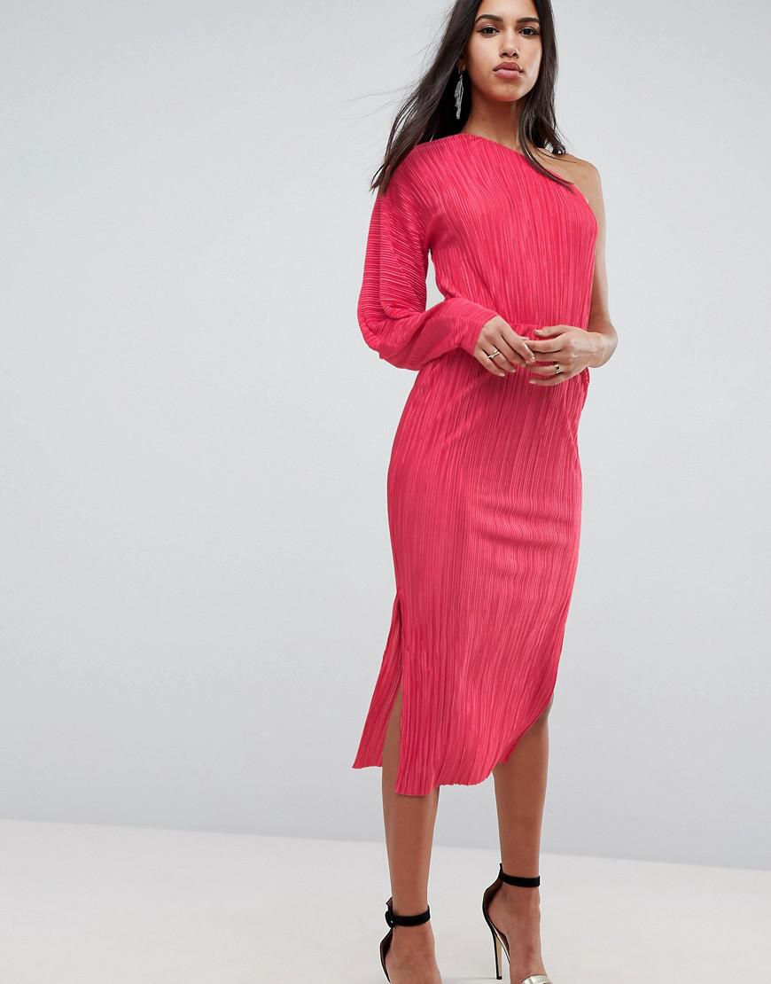 Manchester Cheap Price Discount Fast Delivery ASOS DESIGN one shoulder bodycon dress with balloon sleeve Supply For Sale WmUlB3En