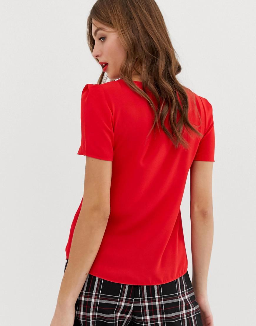 14e1b4df4ad4 Oasis Top With V-neck In Red in Red - Lyst