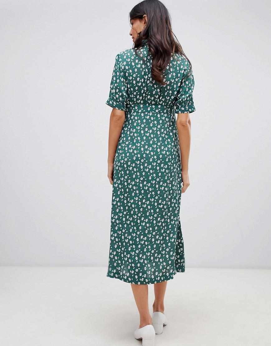 6f1e972893033 ... Design Maternity Button Through Maxi Tea Dress In Ditsy Floral Print -.  View fullscreen