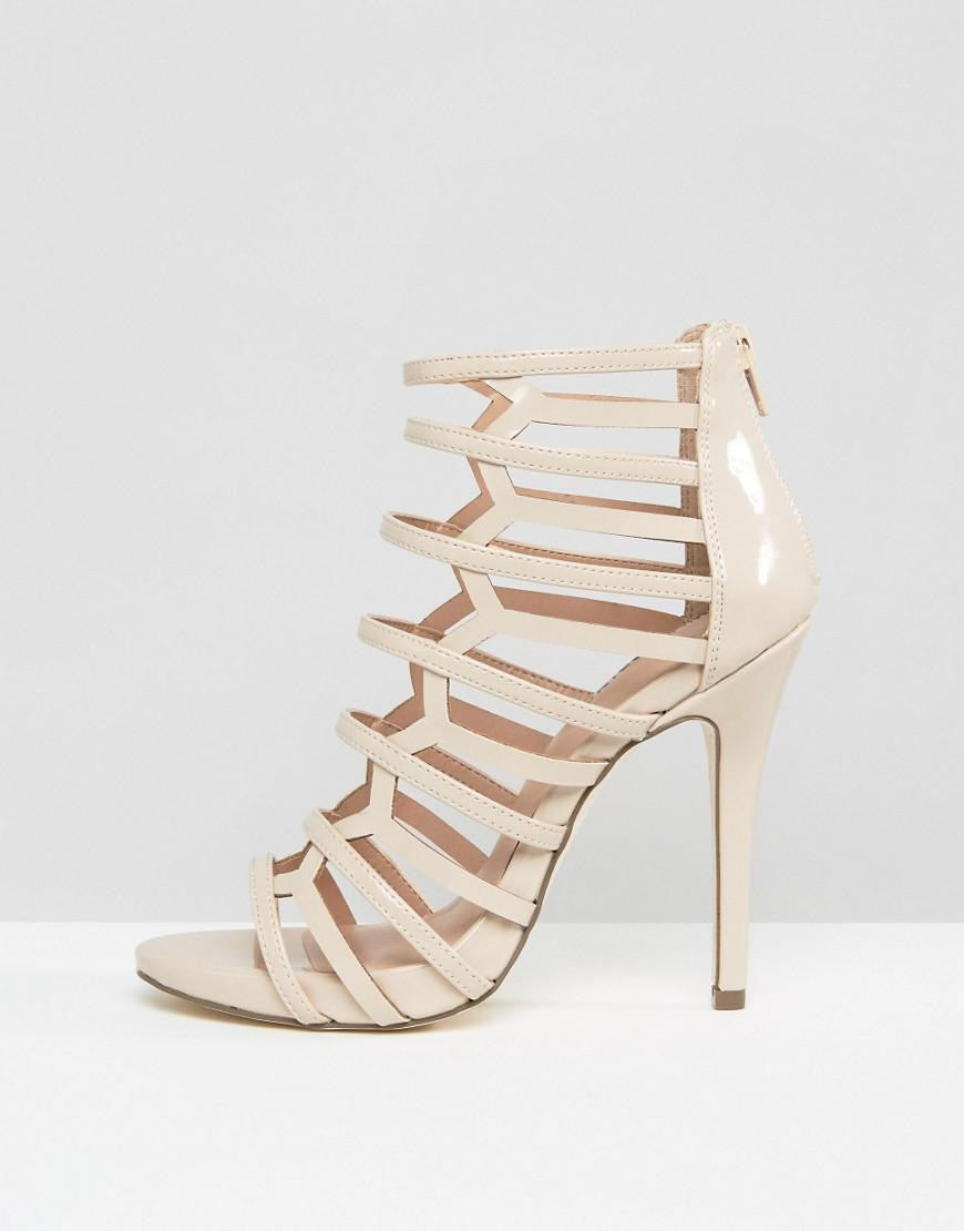 98cc248c384 Call It Spring Astausien Cut Out Heeled Sandals in Natural - Save  51.06382978723404% - Lyst