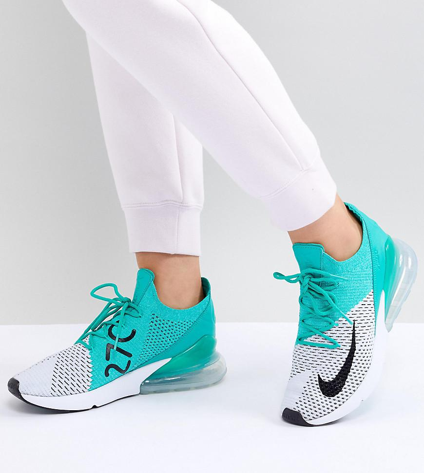 412b3301fcad3 ... where can i buy nike air max 270 flyknit sneakers in green lyst c0840  8cae8 ...