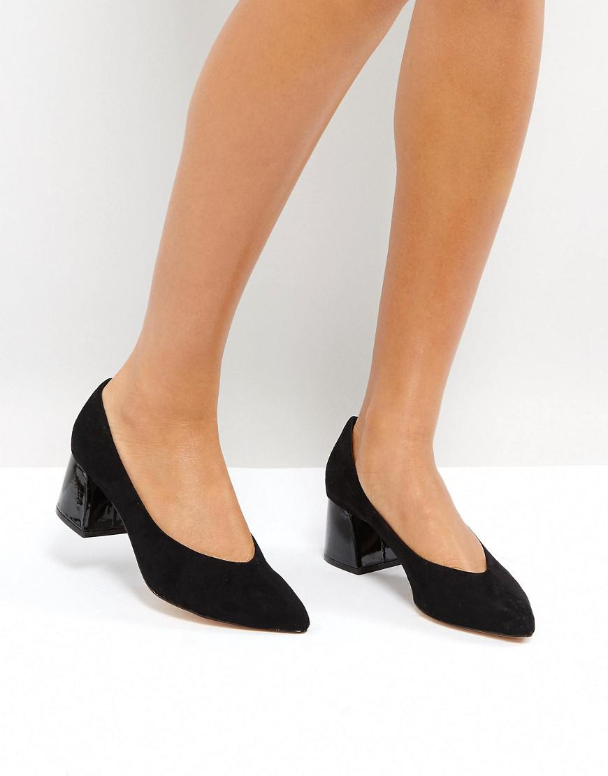 0689d4ba08e673 Lyst - Stradivarius Block Heel in Black