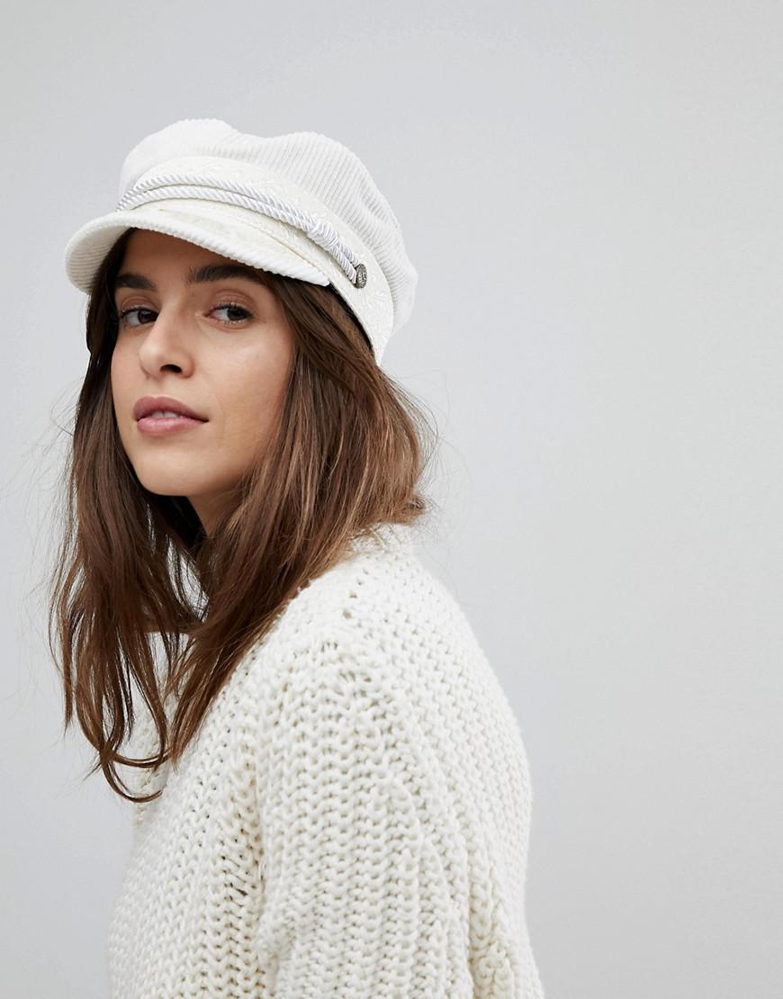 af94fe3969a ... cheapest brixton baker boy hat in white cord in white lyst 90f88 b6f54