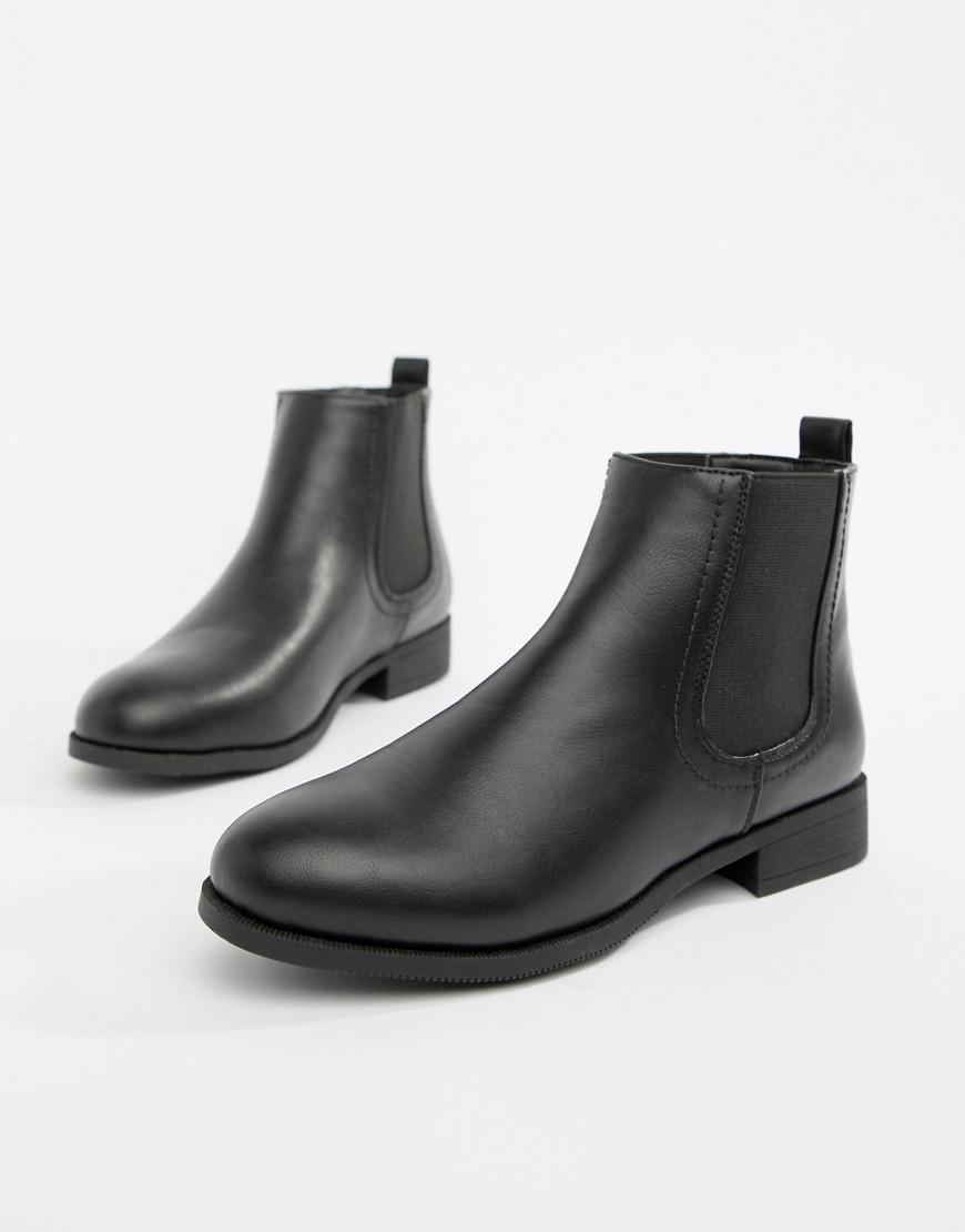 a775103823504 Park Lane Flat Chelsea Boots in Black - Lyst