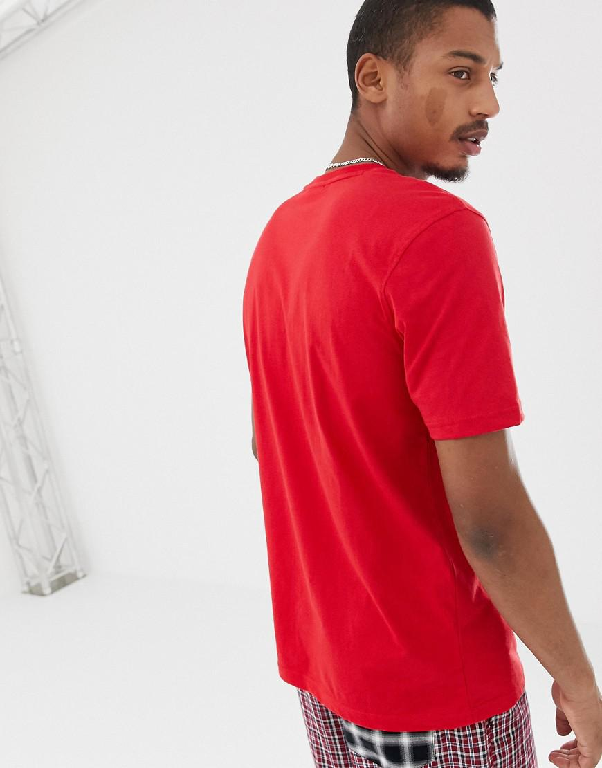 2d0d8e8ac108 Fila Black Line T-shirt With Large Logo In Red in Red for Men - Lyst