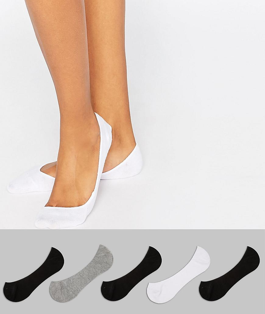 DESIGN Invisible Liner Socks With Random Feed Design & Branded Sole 5 Pack - Multi Asos Buy Online Looking For Cheap Price View Cheap Online Discount Store Sale Great Deals EGaLBE