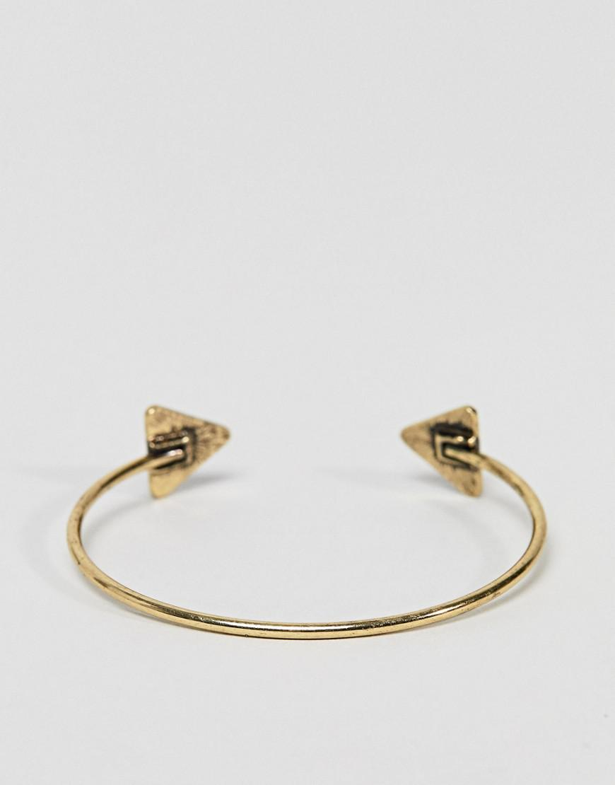 DESIGN Pack of 2 heartbeat cuff bracelet and ring - Gold Asos hWFD72HC