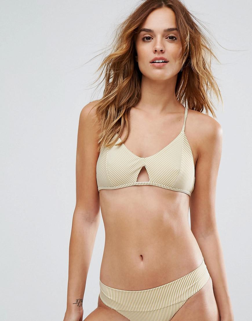 81445eee4c Lyst - RVCA Line Up Cross Back Reversible Bikini Top