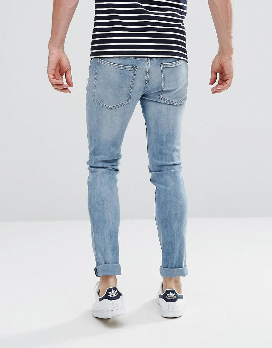 Cheap Monday Tight Skinny Jeans Nemesis Blue In Blue For