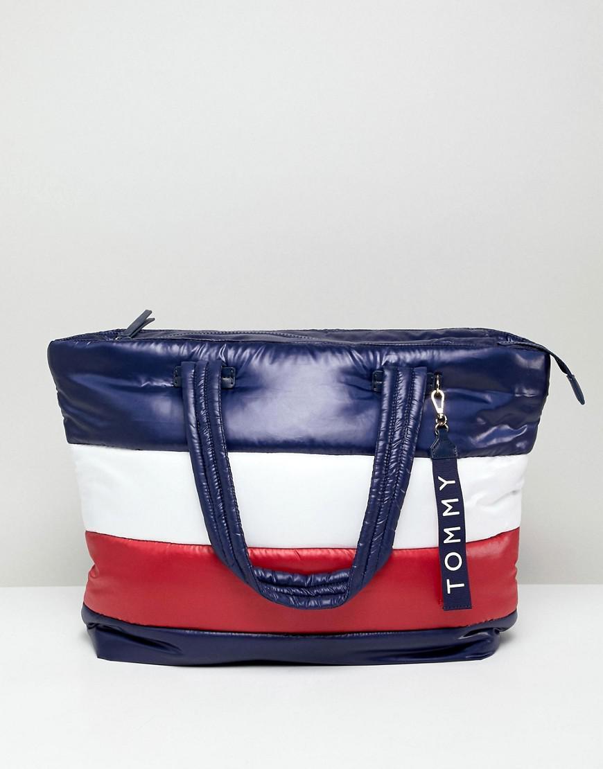 Tommy Hilfiger Flag Padded Tote Bag in Blue - Lyst 7fae675b5bbd9