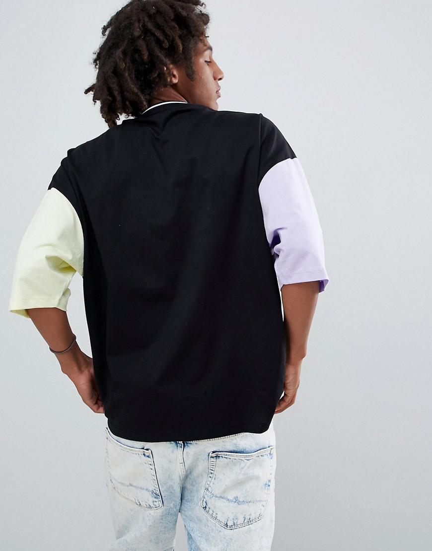 d69b59ea78f09 Lyst - T-shirt oversize avec imprim rtro et manches mi-longues ...