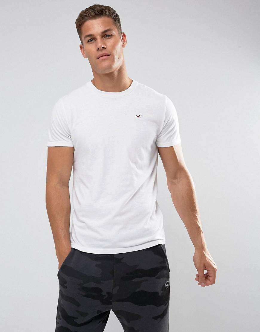 606c51743307 Hollister Crew T-shirt Slim Fit Icon Logo In White in White for Men ...