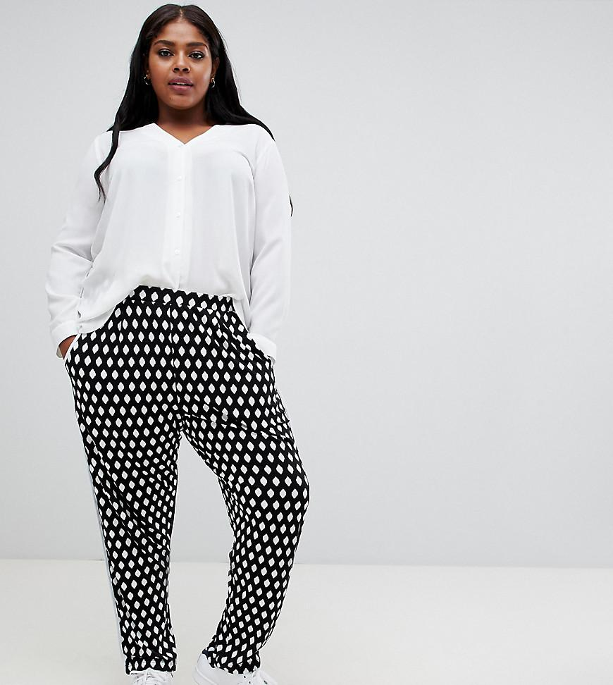 7f04972f20cea Lyst - ASOS Asos Design Curve Tapered Peg With Contrast Bind In Mono ...