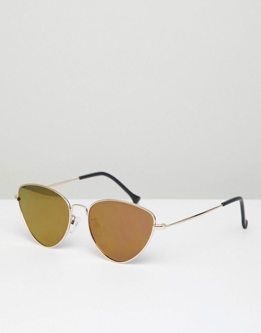 032a2d2981 A.J. Morgan Metal Cat Eye Sunglasses In Gold pink Mirror in Metallic ...