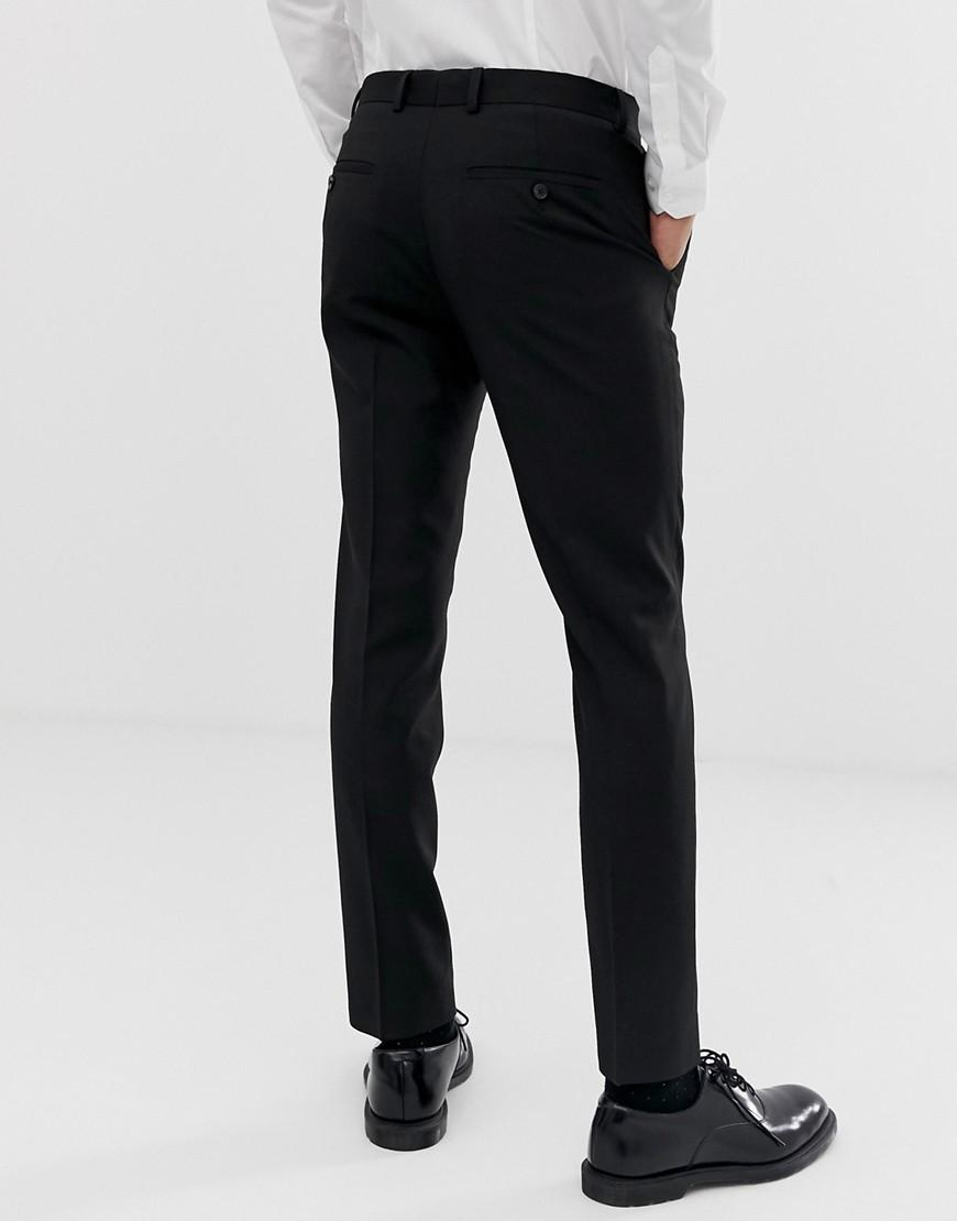 2c983cfbd Lyst - Moss Bros Moss London Slim Fit Suit Pant In Black With Stretch in  Black for Men