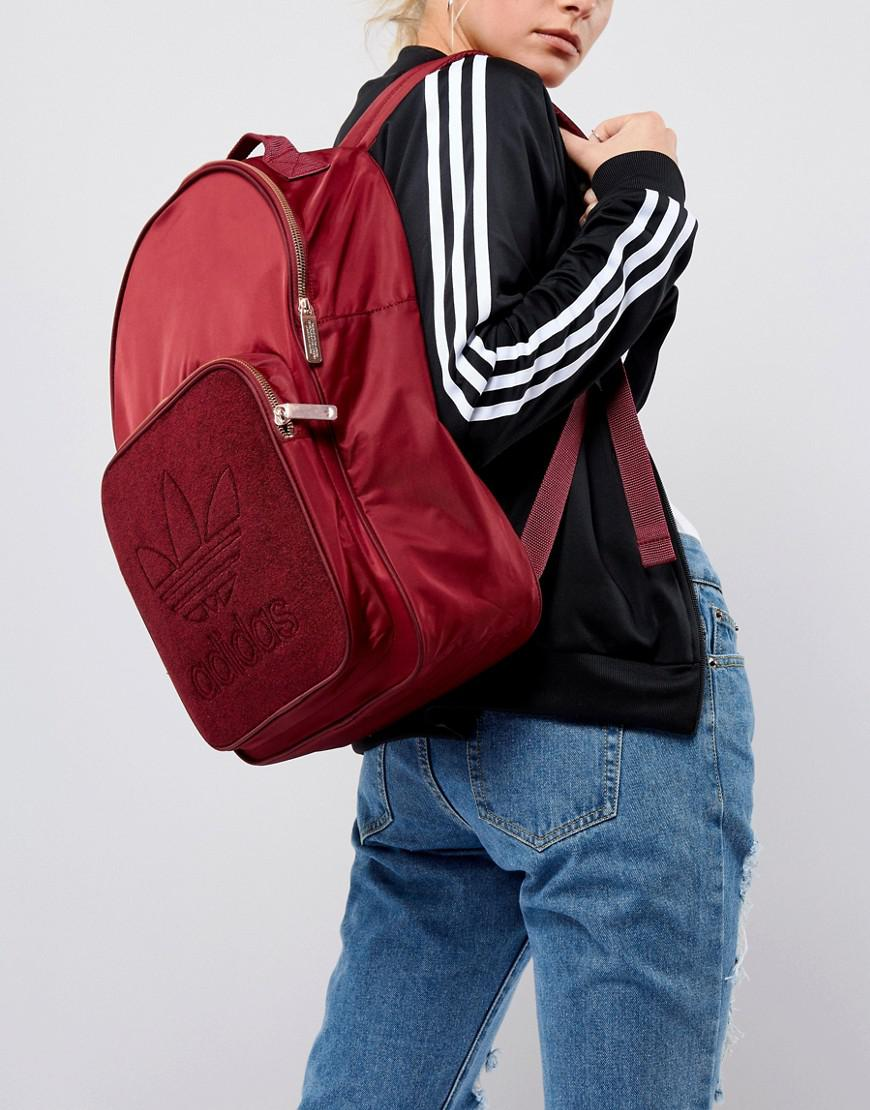 79f000f5e130 adidas Originals Classic Backpack In Burgundy With Rose Gold ...