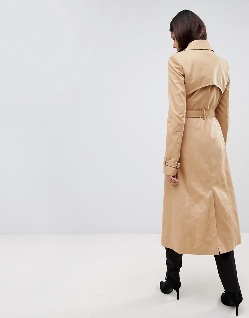 104622ba47e2 Lyst - ASOS Asos Design Tall Longline Trench Coat in Natural