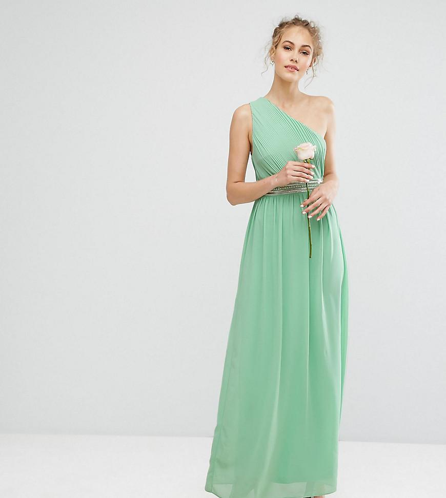 Lyst - Tfnc London One Shoulder Embellished Maxi Bridesmaid Dress in ...