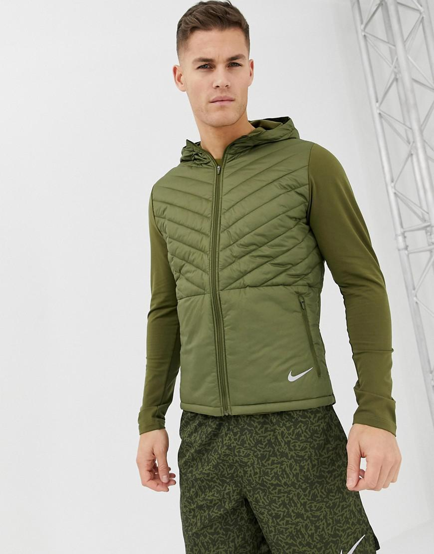 0100a2acf715 Nike Padded Hooded Jacket In Khaki Ah0544-395 in Green for Men - Lyst