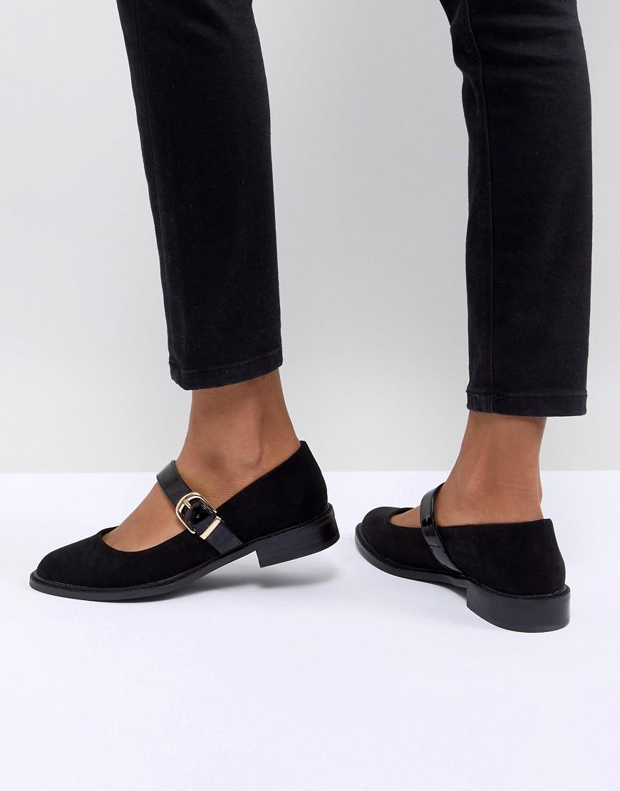 b9add4f04cae Asos Design Asos Mint Flat Shoes in Black - Lyst