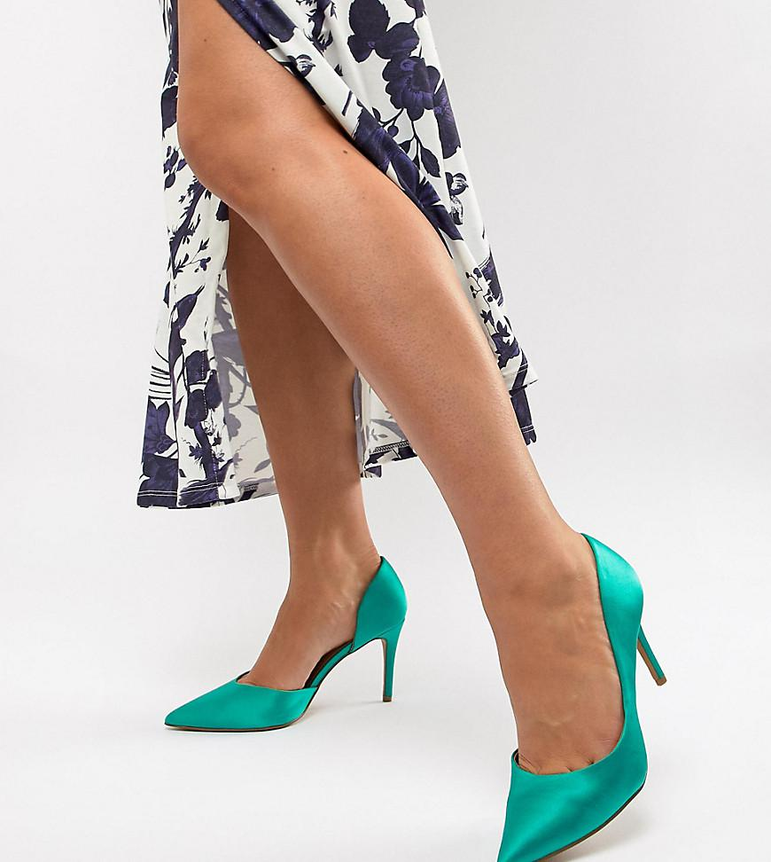 070e9f104a4 ASOS Wide Fit Purley High Heeled Pumps In Emerald Green in Green - Lyst