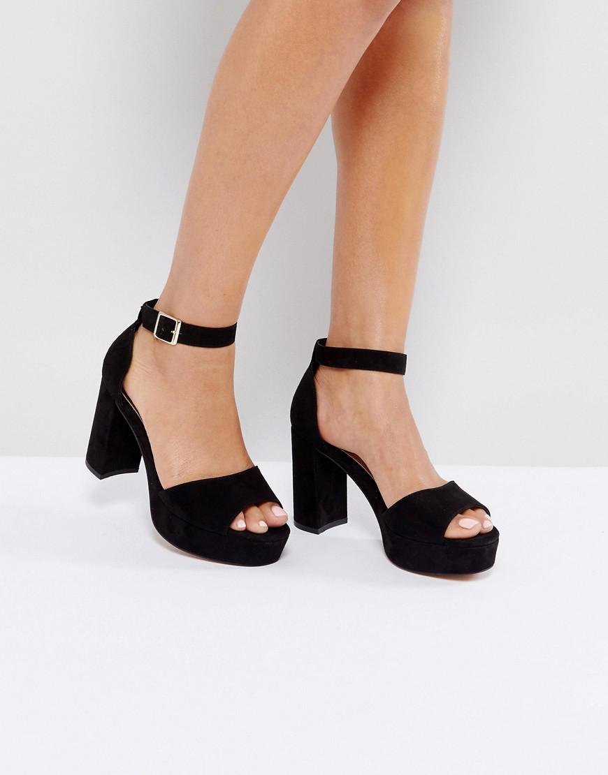 6a21097af99 Lyst - ASOS Asos Heidi Block Heeled Sandals in Black