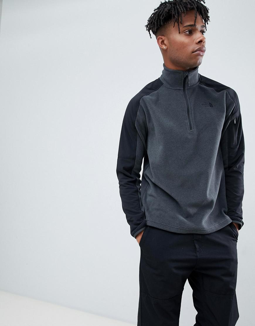 1c512fd24 The North Face Glacier Delta 1/4 Zip Fleece In Grey in Gray for Men ...