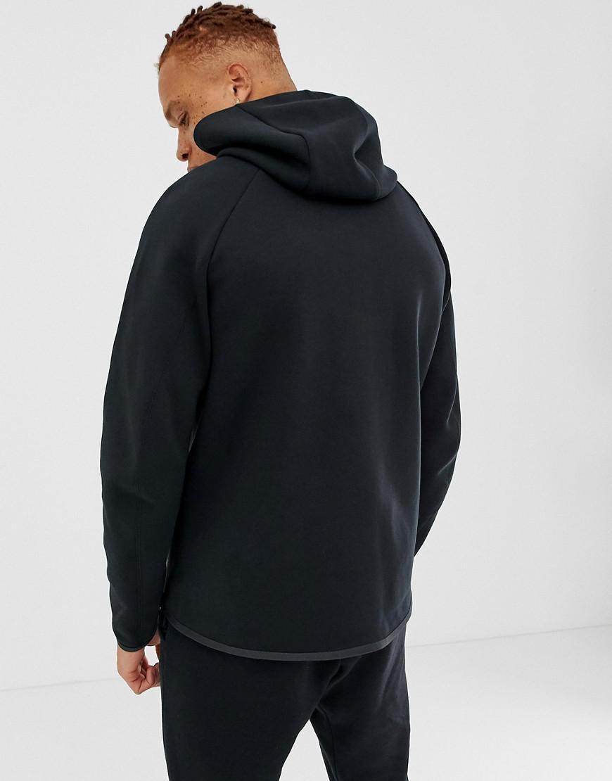 760980458a07 Nike Tech Fleece Zip Through Hoodie In Black 928483-010 in Black for Men -  Lyst