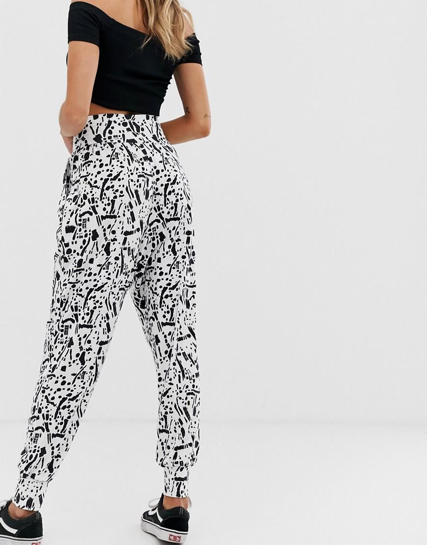 30d7f75fdae9 ASOS Harem Pants In squiggle Print - Lyst