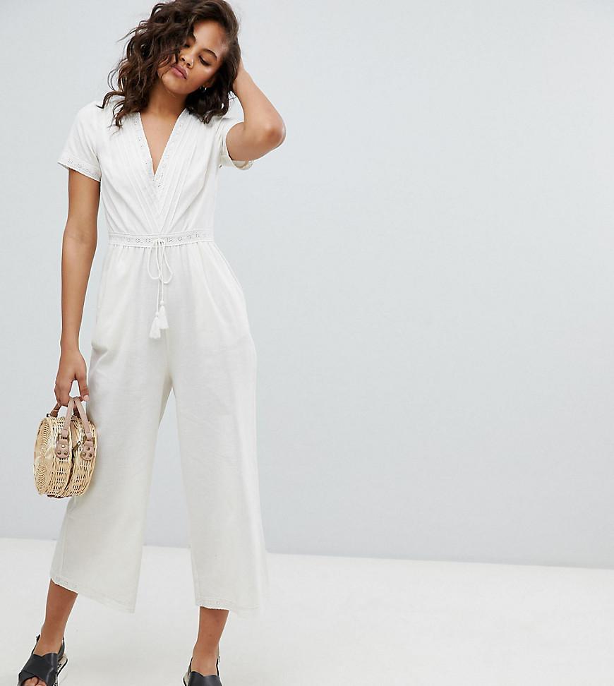 5aa115654aa0 ASOS. Women s Asos Design Tall Cotton Embroidered Jumpsuit With Tassel