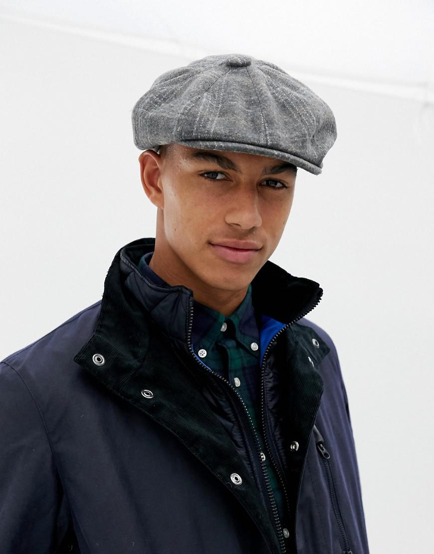 Lyst - New Look Baker Boy Hat In Gray Check in Gray for Men cbc9fe98db5f
