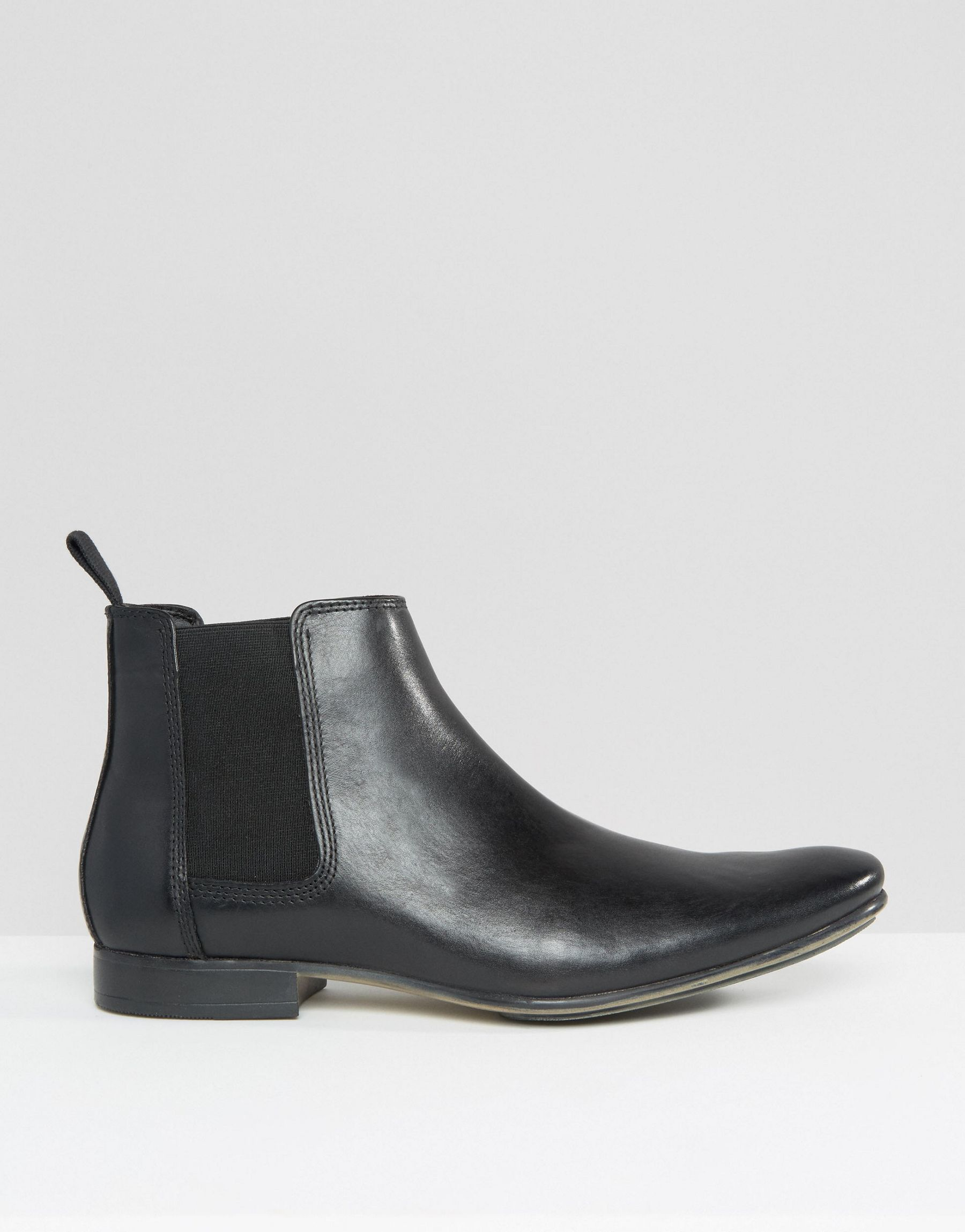frank wright leather chelsea boots in black lyst