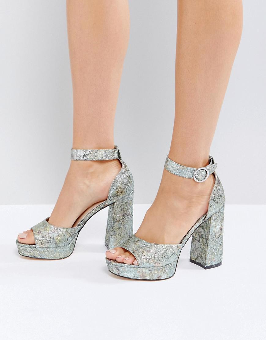 Womens Jaquard Platform Sandals Miss Selfridge FNOcfz5yN7