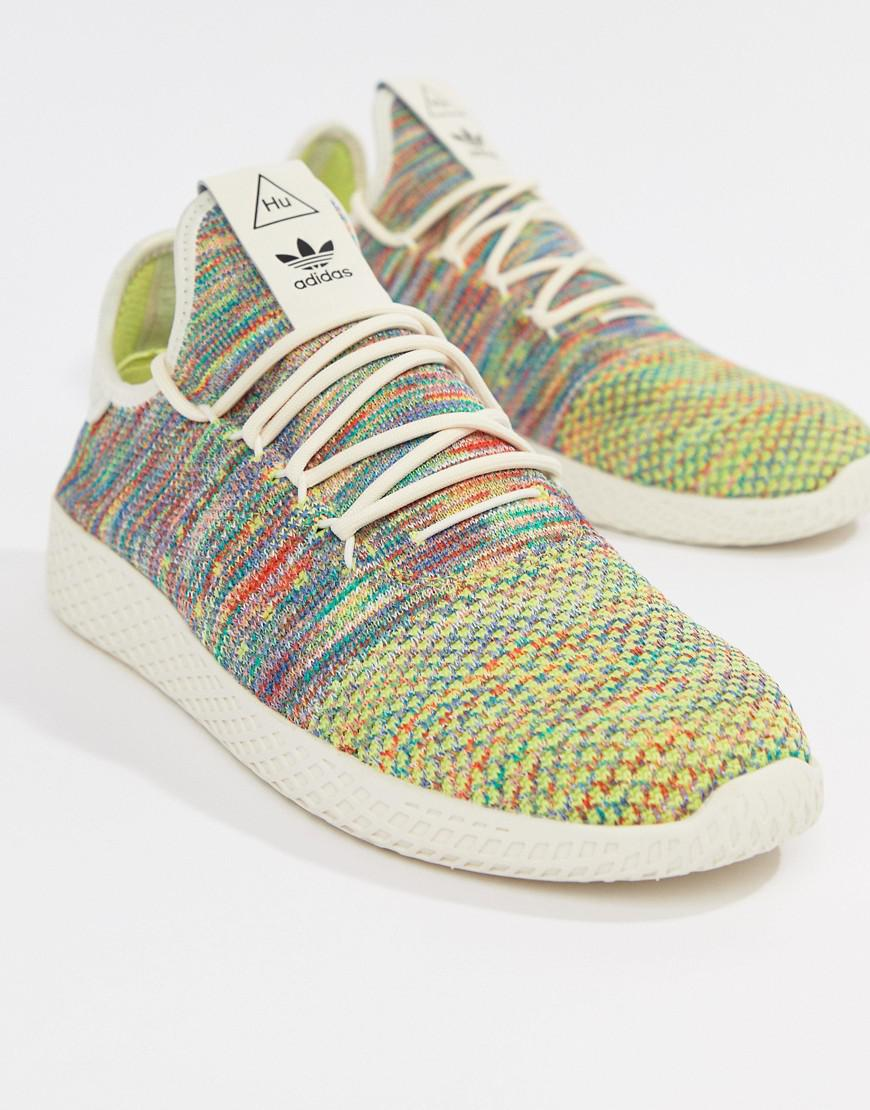 lyst adidas originals pharrell williams tennis hu sneakers in