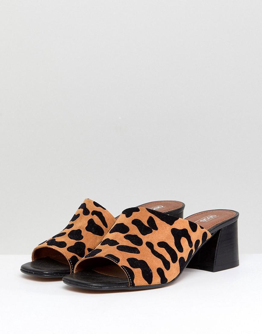 4c2871df1d19 ASOS Asos Tatiana Suede Asymmetric Heeled Sandals - Lyst
