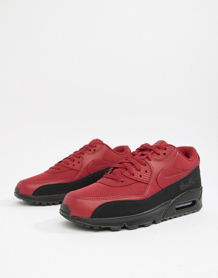 b3993f1f7c0 Nike Air Max 90 Essential Sneakers In Red Aj1285-010 in White for ...