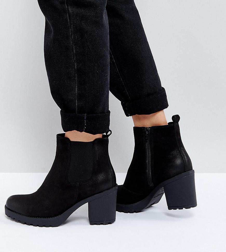 0b476fd86bc7 Vagabond Grace Black Leather Ankle Boots in Black - Lyst