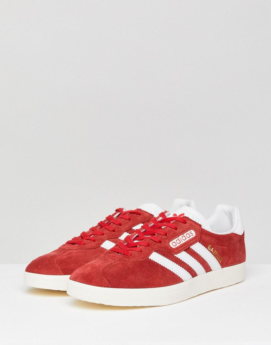 adidas trainers for men gazelle red amd white