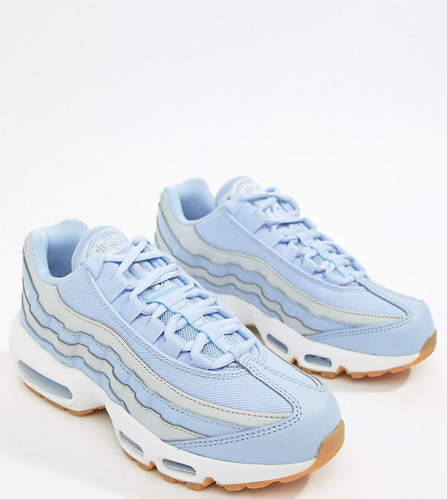 info for 91b2d cc471 Nike Blue And Grey Ombre Air Max 95 Trainers in Purple - Lys