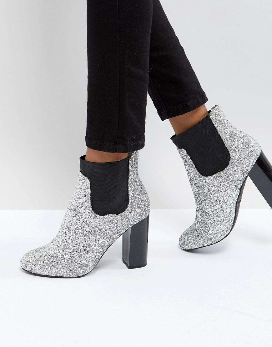 Call it Spring Glitter Heeled Ankle Boots bI4sh0JhMF
