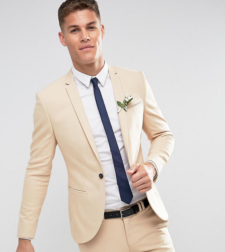 big discount sale great deals 2017 custom Noak Natural Slim Wedding Suit Jacket In Stone for men