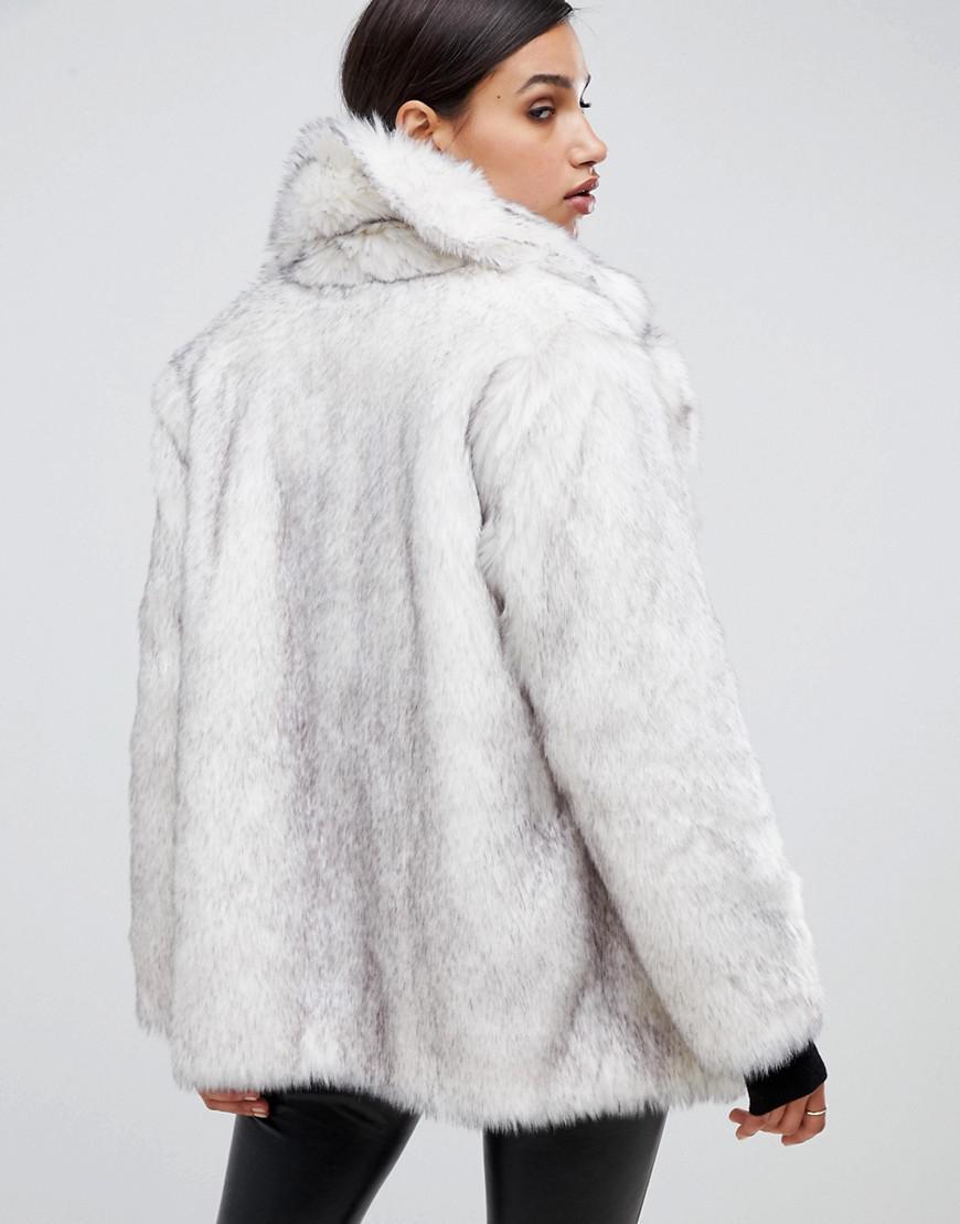 930e1de7231 Lyst - ASOS Glam Oversized White Faux Fur in White