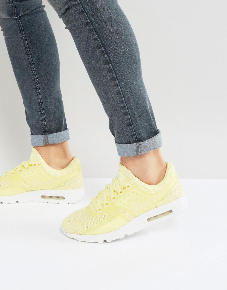d65c0fac06 Nike Air Max Zero Breathe Trainers In Yellow 903892-700 in Yellow ...