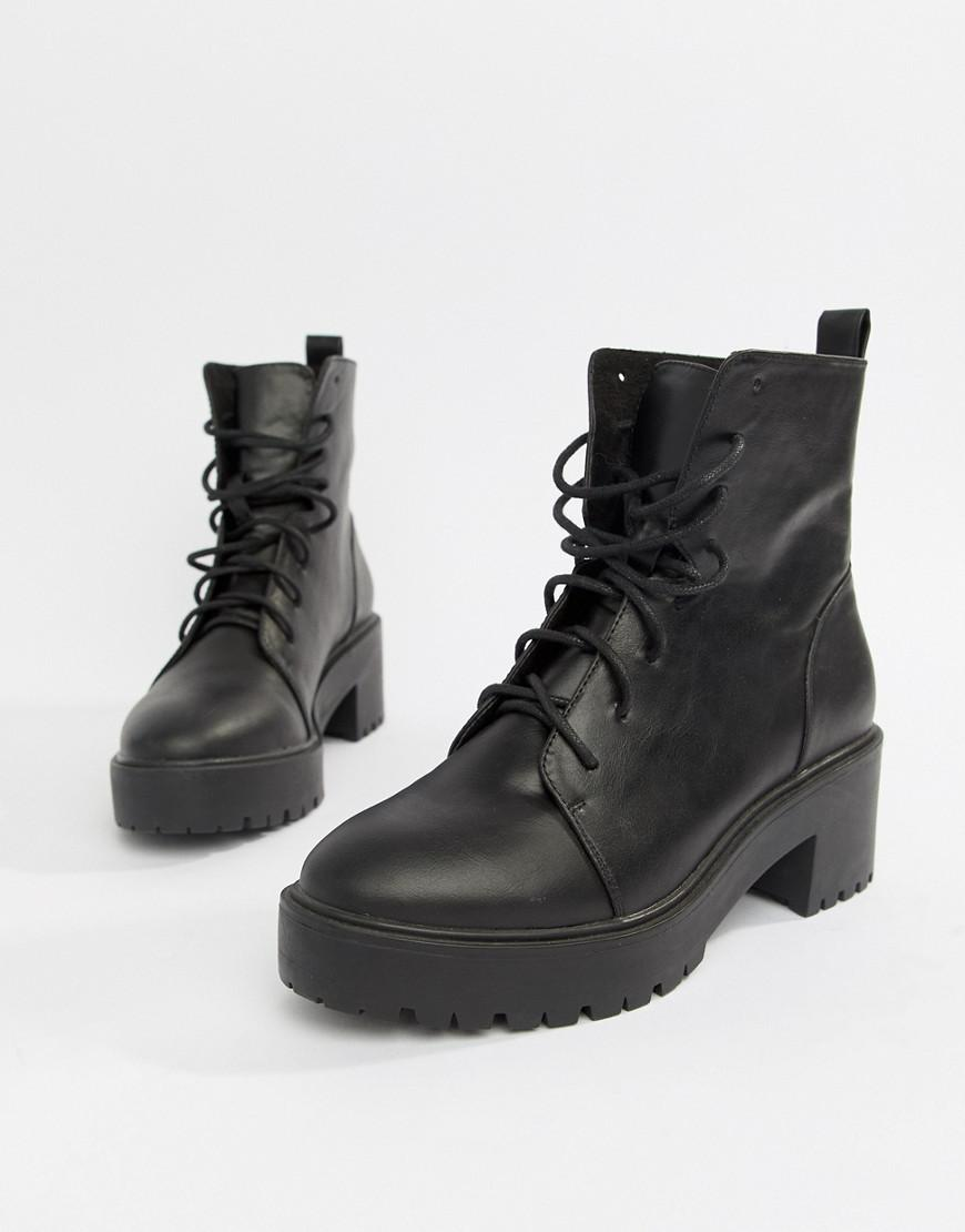e1b82d65b40 Lyst - ASOS Raider Chunky Lace Up Boots in Black