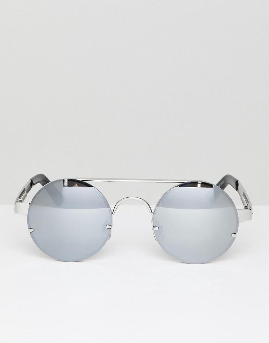 7a4677ba8812cd Lyst - Lunettes de soleil rondes verres effet miroir Spitfire pour ...
