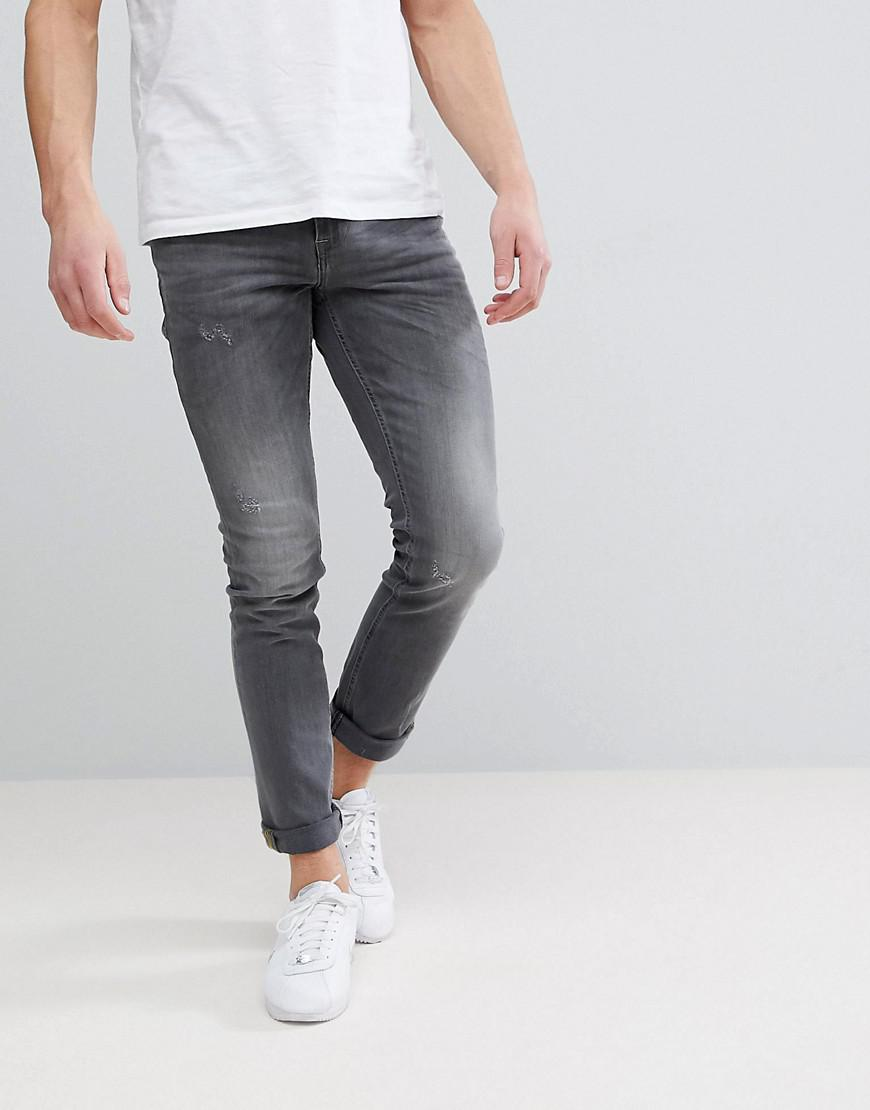 Cirrus Distressed Ripped Skinny Jeans - Bluey grey Blend gkhLl8fwzx